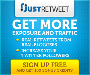 JustRetweet - Get More Retweets Free
